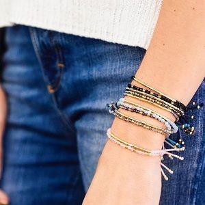 Gorjana Power Gemstone Bracelet Iolite and Gold